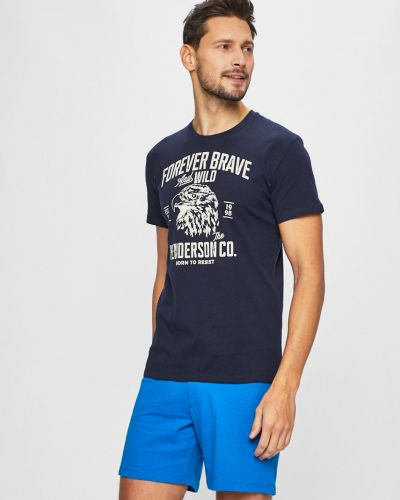 Пижама с принтом темно-синий Henderson