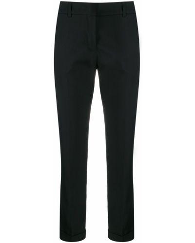 Укороченные брюки с карманами черные Piazza Sempione
