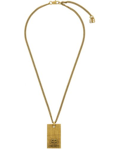 Ожерелье золотой Balenciaga