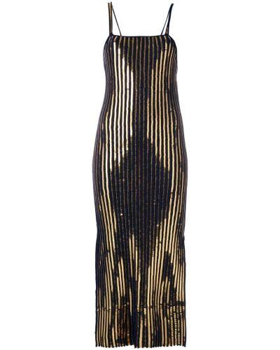 Платье с вышивкой с квадратным вырезом в рубчик Cédric Charlier