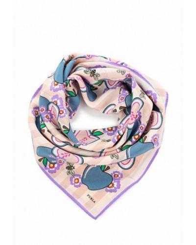 Бежевый платок носовой Furla