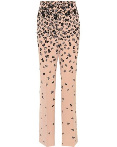 Różowy bezpłatne cięcie spodni klasyczne spodnie bezpłatne cięcie Bottega Veneta