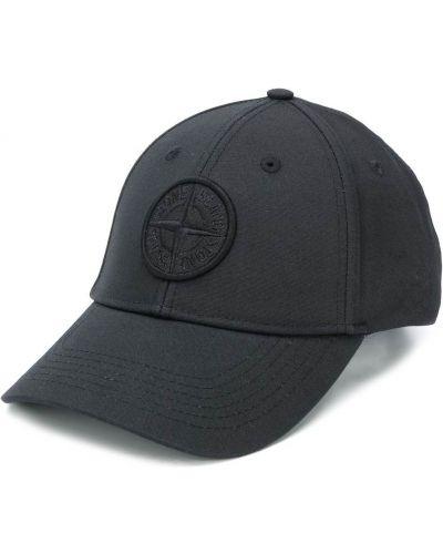 Bawełna baseball bawełna czarny czapka baseballowa Stone Island
