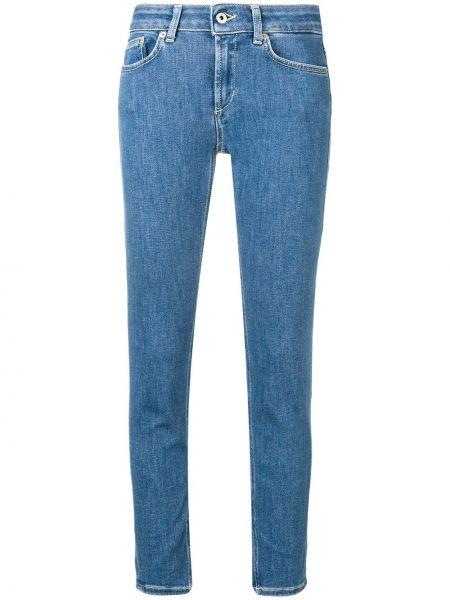 Укороченные джинсы на пуговицах с поясом в стиле бохо с пайетками Dondup
