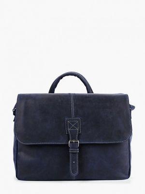 Синяя кожаная сумка Duffy