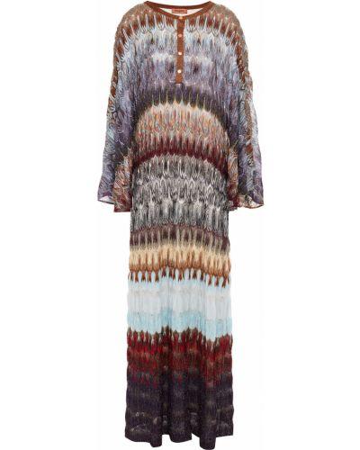 Фиолетовое платье макси с подкладкой из вискозы Missoni