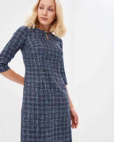 Платье миди осеннее синее Tom Farr