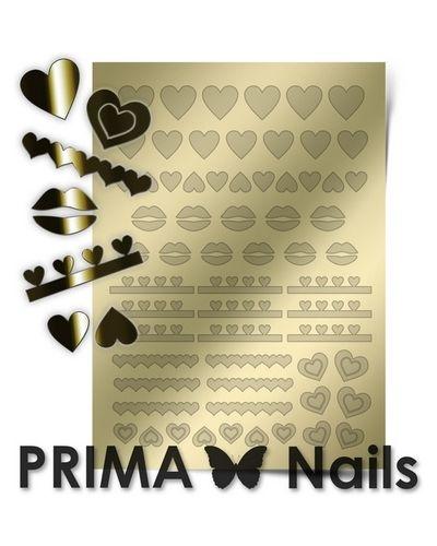 Наклейка для ногтей из золота Prima Nails