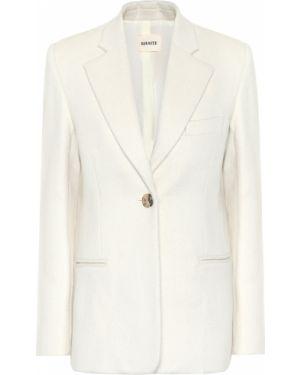 Удлиненный пиджак из альпаки Khaite