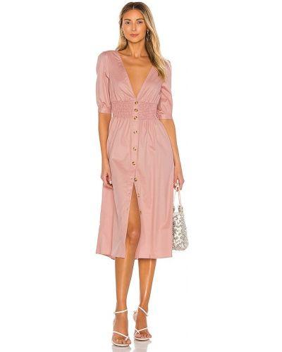 Хлопковое платье миди - розовое The Jetset Diaries