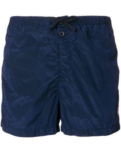 Синие короткие шорты Stone Island