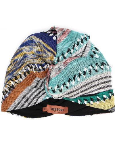 Niebieski turban z wiskozy Missoni