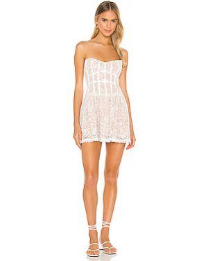 Платье мини с декольте на молнии For Love & Lemons