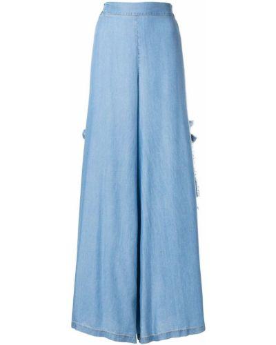 Синие брюки с бахромой Jonathan Simkhai