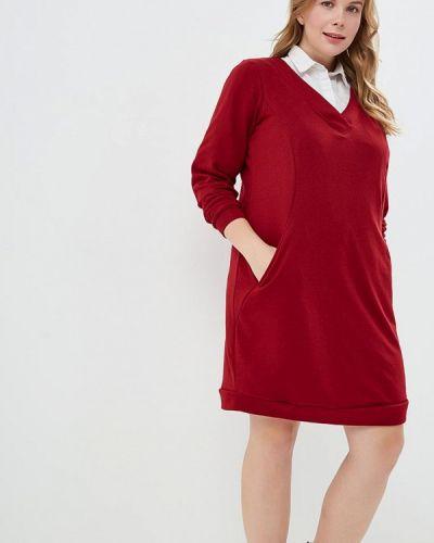 Повседневное платье осеннее красный Zizzi