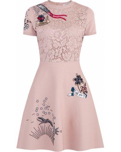 Платье из вискозы с воротником Valentino