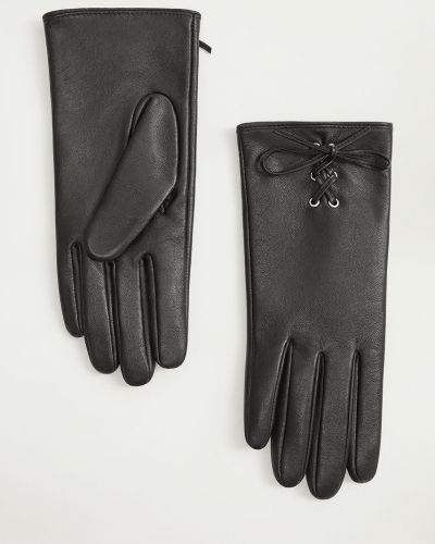 Кожаные перчатки Mango