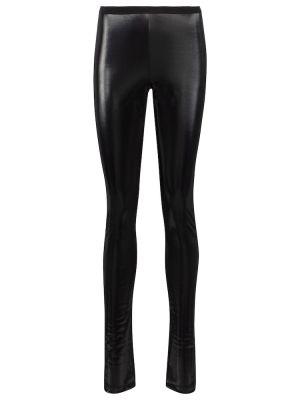 Czarne legginsy bawełniane Rick Owens
