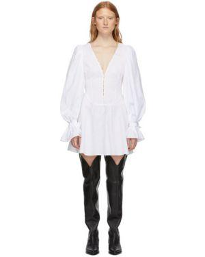 Платье макси с V-образным вырезом с воротником Wandering
