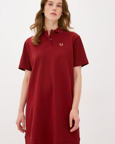 Бордовое платье Fred Perry
