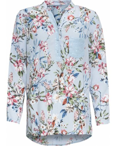 Блузка с длинным рукавом с пайетками Bonprix