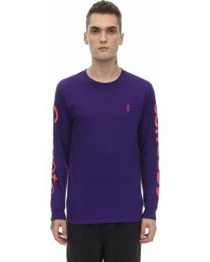 Prążkowany fioletowy t-shirt Carrots X Jungle