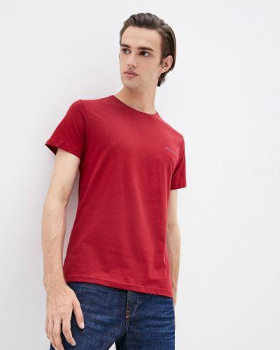 Бордовая футболка осенняя Felix Hardy