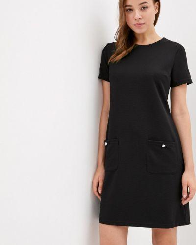 Прямое черное платье Zolla