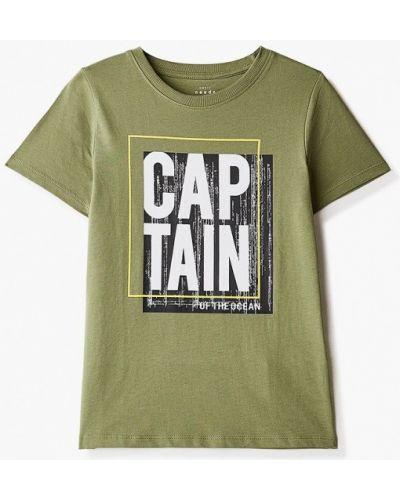 Зеленая с рукавами футболка Name It