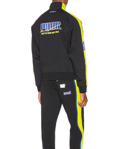 Czarna kurtka bawełniana z printem Puma Select