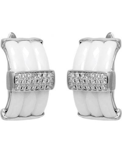 Серебряные серьги керамические Evora