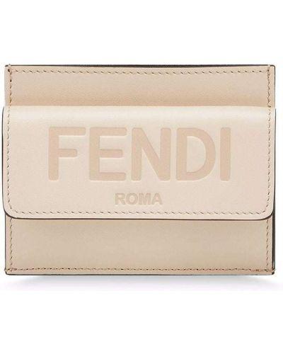 Кожаный клатч Fendi