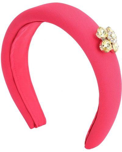 Satyna różowy opaska na głowę Simonetta
