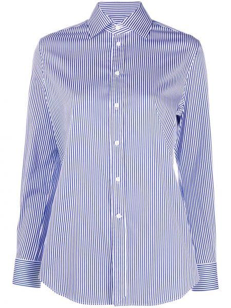 Белая классическая рубашка с длинными рукавами с воротником Ralph Lauren