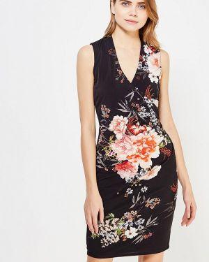 Платье миди осеннее черное Wallis