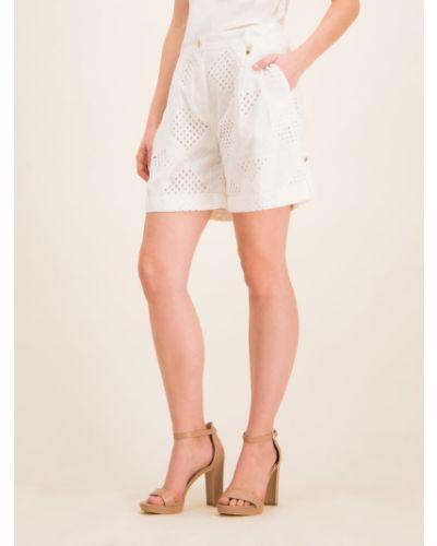 Białe szorty materiałowe Pennyblack