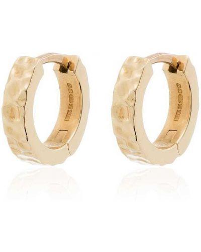 Золотистые серьги-гвоздики золотые с декоративной отделкой Laud