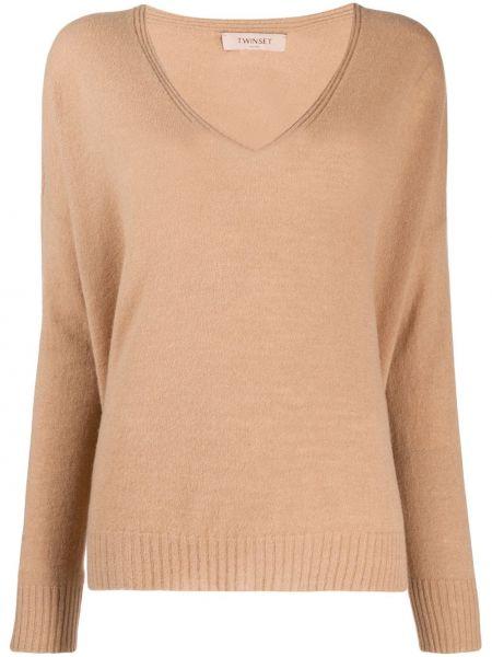 Кашемировый свитер - коричневый Twinset