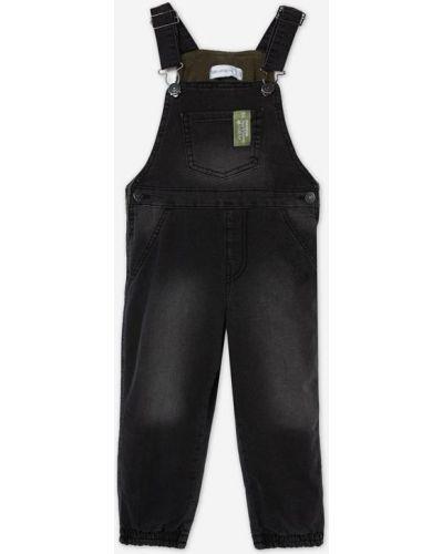 Джинсовый комбинезон - черный Gloria Jeans