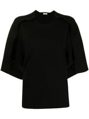 Черная футболка короткая Mrz