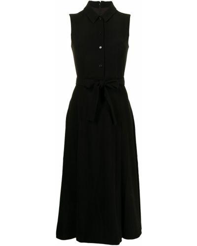 Платье миди на пуговицах - черное Paule Ka