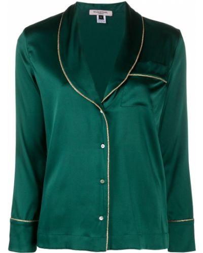 Зеленая шелковая пижама на пуговицах Gilda & Pearl
