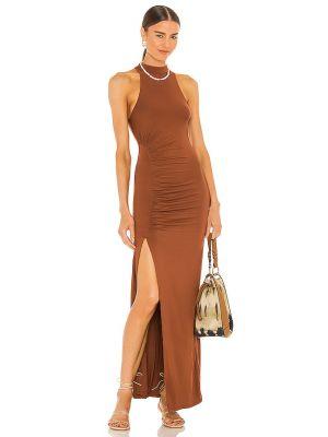Платье с разрезом - коричневое House Of Harlow 1960