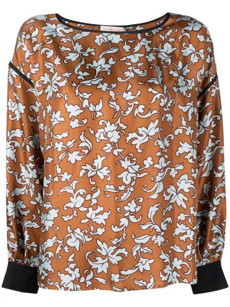 Jedwab czarny bluzka z długimi rękawami Tory Burch