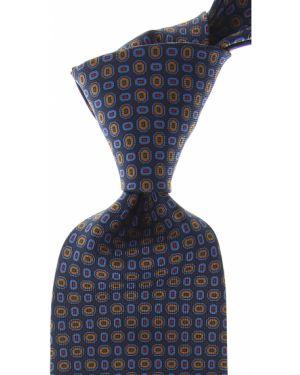 Brązowy krawat z jedwabiu Marinella