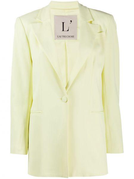 Желтый пиджак на пуговицах с подкладкой L'autre Chose