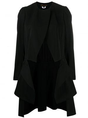 Шерстяной черный удлиненный пиджак на пуговицах Comme Des Garçons