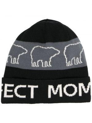 Шерстяная шапка бини - черная Perfect Moment