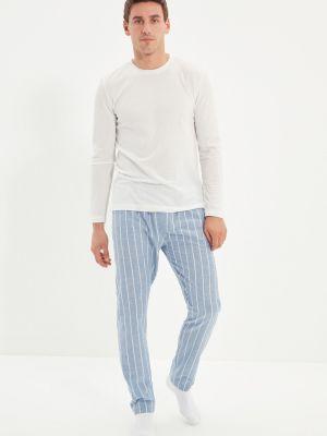 Piżama bawełniana - biała Trendyol
