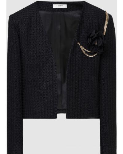 Черный пиджак Lanvin